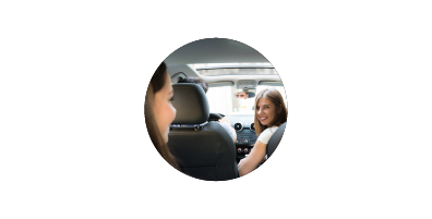 viisights rideshare video analytics solution icon with image of driver looking back at passenger